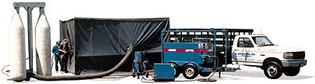 ... and hold spent blasting material much like a common household vacuum cleaner bag. Utilizing the tent itu0027s endless where R. Houston u0026 Son can serve you.  sc 1 st  R. Houston u0026 Son Sandblasting Specialists & R. Houston u0026 Son Sandblasting Tent